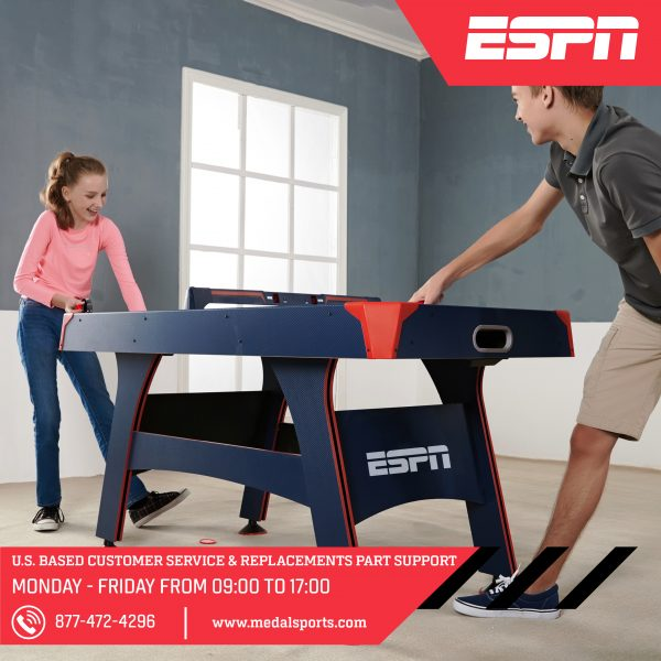 Espn 60 Air Powered Hockey Table With Overhead Electronic Scorer Md Sports