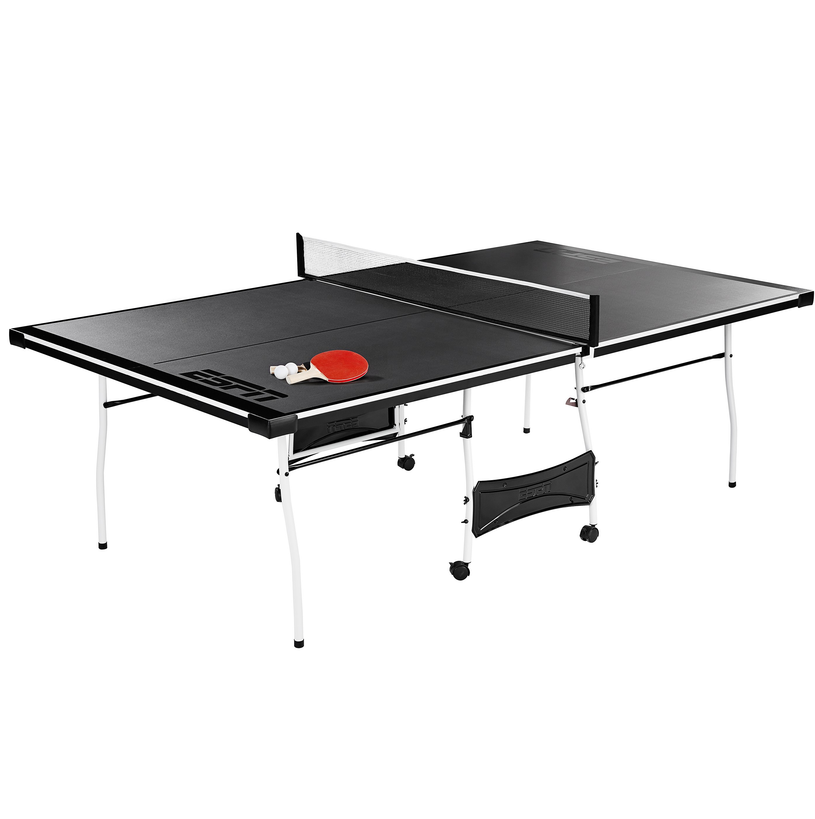 Espn Mid Size Folding Table Tennis Ping Pong Table Game