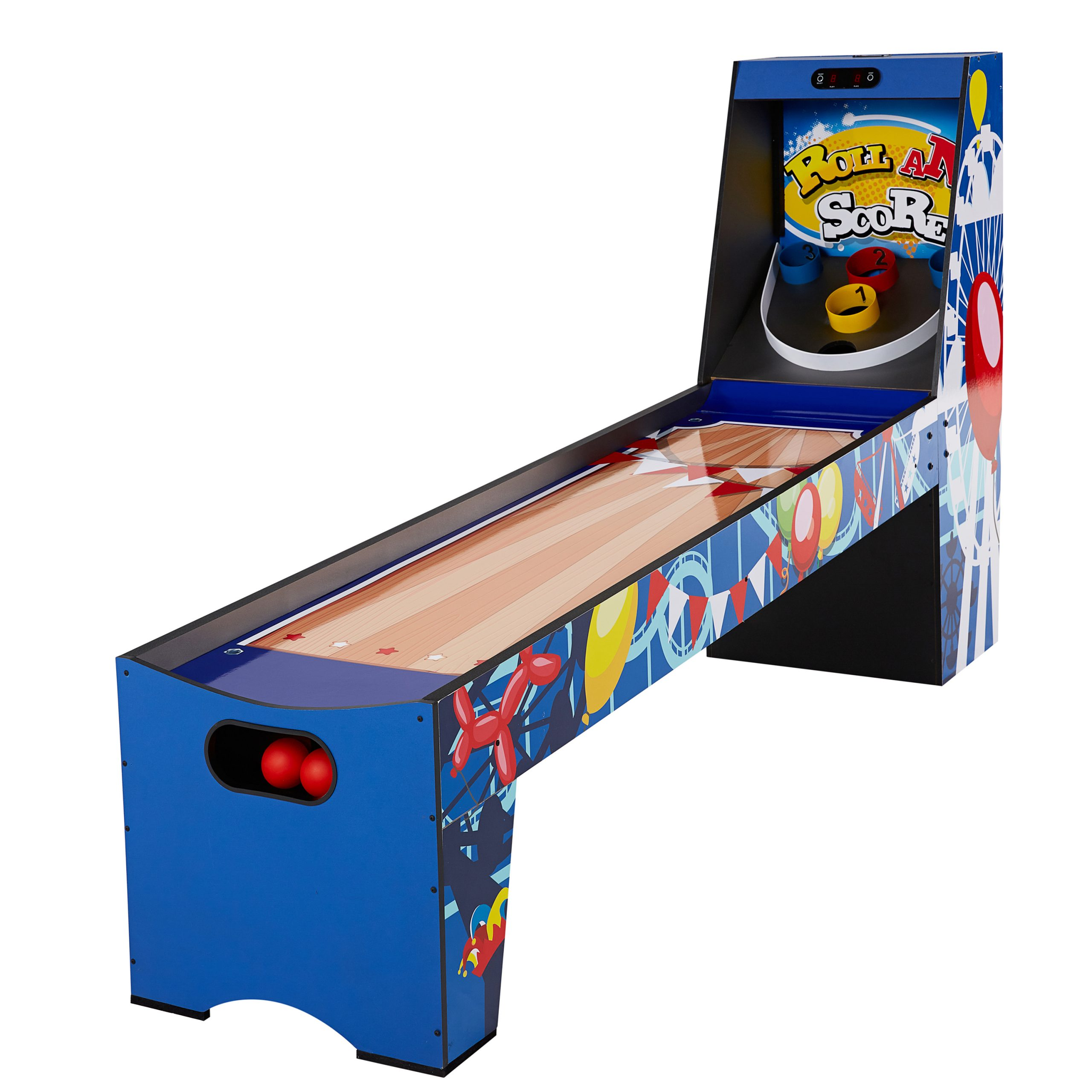 Roll and Score skee ball