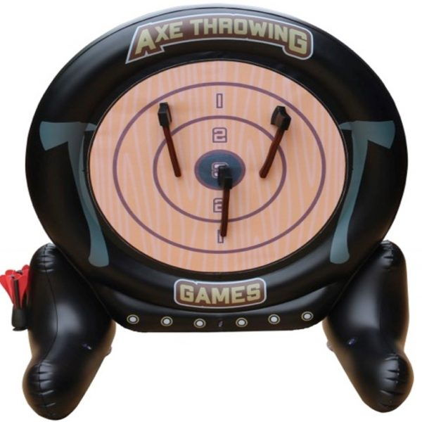 MD Sports 2-in-1 Axe Throwing and Dartboard Challenge