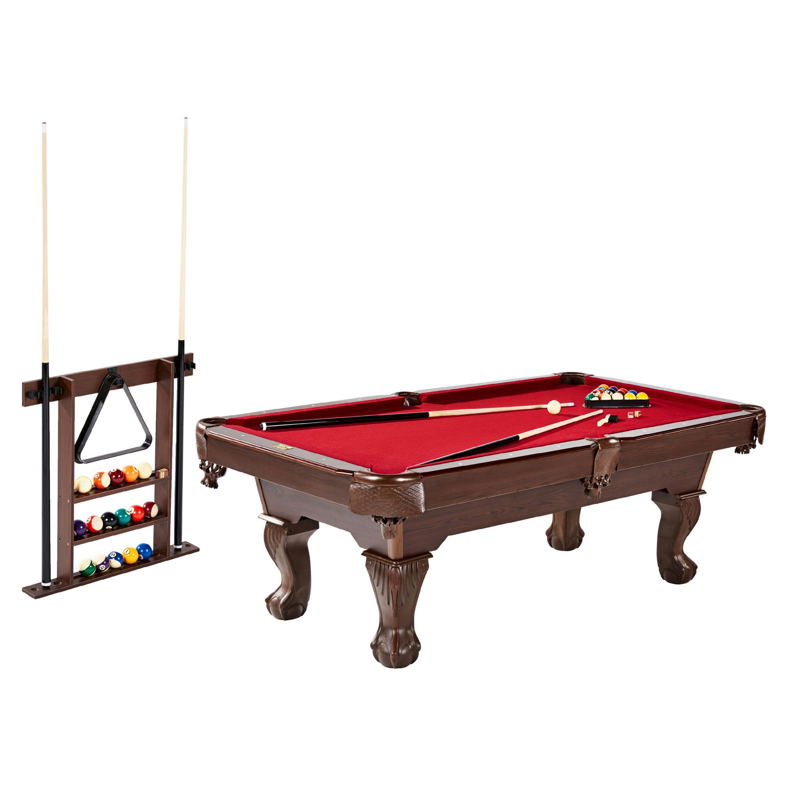 Billiard with Cue Rack